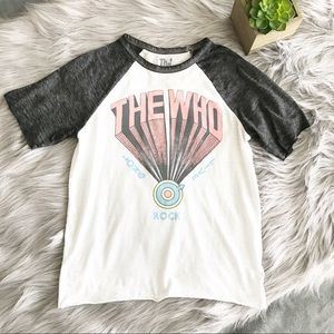 Tops - The Who || Burnout Graphic Tee Size XS